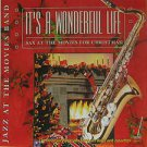 "SAX AT THE MOVIES usa display IT'S A WONDERFUL LIFE 12"" X 12"" DOUBLE-SIDED POSTE"