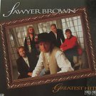 "SAWYER BROWN usa display GREATEST HITS 1990 1995 Rock 12"" X 12"" DOUBLE-SIDED POS"