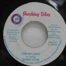 """SANDY STAR jamaica 45 FOR MY LOVE 7"""" Reggae SHOCKING-VIBES"""
