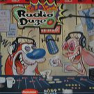 """SAMPLER usa display RADIO DAZE 12"""" X 12"""" DOUBLE-SIDED POSTER. THIS IS NOT AN LP"""