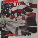 """SAMPLER usa display KISS MY ASS 12"""" X 12"""" DOUBLE-SIDED POSTER. THIS IS NOT AN LP"""
