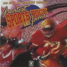 """SAMPLER usa display GREATEST SPORT ROCK AND JAMS 12"""" X 12"""" DOUBLE-SIDED POSTER."""