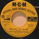 """SAM THE SHAM usa 45 TAKE WHAT YOU CAN GET 7"""" Rock PROMO/OH THAT'S GOOD NO THAT'S"""