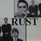 """RUST usa display S/T SELF SAME UNTITLED 12"""" X 12"""" DOUBLE-SIDED POSTER. THIS IS N"""