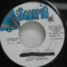 "RICKY GENERAL jamaica 45 TEK YOU MAN 7"" Reggae BLACK-SCORPIO"