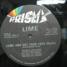 """LIME usa 12"""" COME AND GET YOUR LOVE Dj WHITE JACKET PRISMA"""