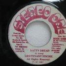 "LIEUTENANT STICHIE jamaica 45 NATTY DREAD 7"" Reggae STEREO-ONE"