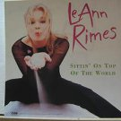 "LEANN RIMES usa display SITTIN' ON TOP OF THE WORLD Country 12"" X 12"" DOUBLE-SID"