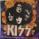 "KISS usa display YOU WANTED THE BEST Rock 12"" X 12"" DOUBLE-SIDED POSTER. THIS IS"