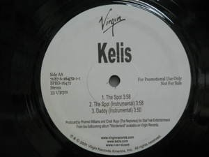 "KELIS usa 12"" THE SPOT+2 Dj WHITE JACKET VIRGIN"