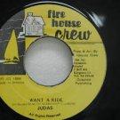 """JUDAS jamaica 45 WANT A RIDE 7"""" Reggae FIRE-HOUSE-CREW"""