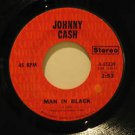 """JOHNNY CASH usa 45 MAN IN BLACK/LITTLE BIT OF YESTERDAY 7"""" Country COLUMBIA"""