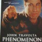 "JOHN TRAVOLTA usa display PHENOMENON OST 12"" X 12"" DOUBLE-SIDED POSTER. THIS IS"