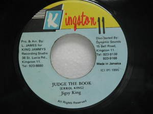 "JIGSY KING jamaica 45 JUDGE THE BOOK 7"" Reggae KINGSTON-11"