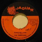 "JAMAICANS jamaica 45 SUNSHINE LOVE/SUNSHINE VERSION 7"" Reggae WRITING ON LABEL J"