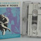 GUNS 'N ROSES peru cassette USE YOUR ILLUSION II Rock SPANISH PRINT GEFFEN