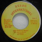 "GRINGO jamaica 45 ONE MAN YU WANT 7"" Reggae BURRO-INTERNATIONAL"