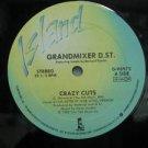 "GRANDMIXER D ST usa 12"" CRAZY CUTS Dj WHITE JACKET ISLAND"