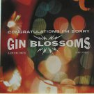 "GIN BLOSSOMS usa display CONGRATULATIONS I'M SORRY 12"" X 12"" DOUBLE-SIDED POSTER"