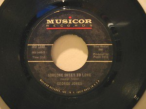 """GEORGE JONES usa 45 SOMEONE SWEET TO LOVE 7"""" Vocal RIGHT WON'T TOUCH A HAND MUSI"""