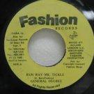"GENERAL DEGREE jamaica 45 RUN WAY MR. TICKLE 7"" Reggae FASHION"