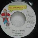 "GENERAL B. jamaica 45 NAH FLEX RIGH 7"" Reggae HOW-YU-FI-SEY-DAT"