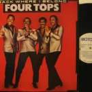 """FOUR TOPS usa 12"""" BACK WHERE I BELONG Soul PROMO/WHITE LABEL MOTOWN excellent"""