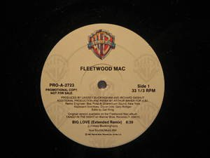 "FLEETWOOD MAC usa 12"" BIG LOVE Rock PROMO/WHITE JACKET WB"