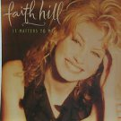 "FAITH HILL usa display IT MATTERS TO ME Country 12"" X 12"" DOUBLE-SIDED POSTER. T"