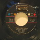 """EXCITERS usa 45 TELL HIM//HARD WAY TO GO 7"""" Vocal UNITED ARTISTS"""