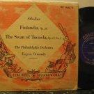 "EUGENE ORMANDY usa 10"" SIBELIUS FINLANDIA & THE SWAN OF TUONELA Classical COLUMB"
