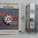 ERASURE peru cassette POP 20 HITS Rock SPANISH PRINT TOCO excellent