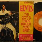 """ELVIS PRESLEY usa 45 I'VE GOT A THING ABOUT YOU BABY 7"""" Rock PICTURE SLEEVE RCA"""