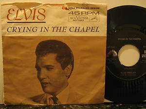 "ELVIS PRESLEY usa 45 CRYING IN THE CHAPEL 7"" Rock PICTURE SLEEVE RCA"