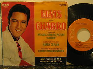 "ELVIS PRESLEY usa 45 CHARRO 7"" Rock PICTURE SLEEVE RCA"