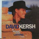 "DAVID KERSH usa display IF I NEVER STOP LOVING YOU 12"" X 12"" DOUBLE-SIDED POSTER"