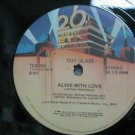 """CUT GLASS usa 12"""" ALIVE WITH LOVE Dj WHITE JACKET 20TH-CENTURY"""
