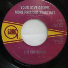 """CONTOURS usa 45 YOUR LOVE GROWS MORE PRECIOUS EVERYDAY 7"""" Vocal IT'S SO HARD BEI"""