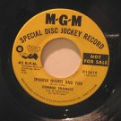 """CONNIE FRANCIS usa 45 SPANISH NIGHTS AND YOU 7"""" Vocal PROMO/GAMES THAT LOVERS PL"""
