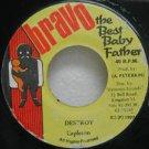 "CAPLETON jamaica 45 DESTROY 7"" Reggae BRAVO"