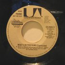 """BRASS CONSTRUCTION usa 45 WHAT'S ON YOUR MIND/THE MESSAGE 7"""" Vocal PROMO UNITED"""