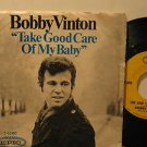 """BOBBY VINTON usa 45 TAKE GOOD CARE OF MY BABY 7"""" Vocal PICTURE SLEEVE EPIC"""