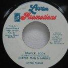 "BEENIE MAN & SANDEE jamaica 45 SAMPLE BODY 7"" Reggae LOVE-AND-PROMO TIONS"