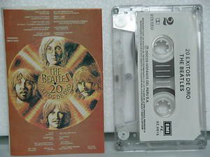 BEATLES peru cassette 20 EXITOS DE ORO Rock SPANISH PRINT EMI excellent