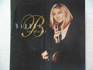 """BARBARA usa display THE CONCERT 12"""" X 12"""" DOUBLE-SIDED POSTER. THIS IS NOT AN LP"""