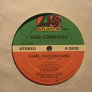"BAD COMPANY usa 12"" FAME AND FORTUNE Rock PROMO/WHITE JACKET ATLANTIC"
