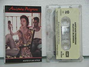 AMISTADES PELIGROSAS peru cassette RELATOS DE INTRIGA Rock SPANISH PRINT EMI exc