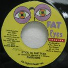 "AMBILIQUE jamaica 45 STICK TO THE TASK 7"" Reggae FAT-EYES-RECORDS"