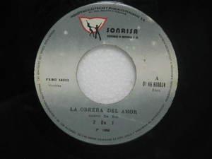 "2 EN 1 peru 45 LA OBRERA DEL AMOR 7"" Latin SONRISA"