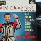 SIEPI/CORENA/DELLA CASA usa LP DON GIOVANNI HIGHLIGHTS Classical BLUE BACK LONDO